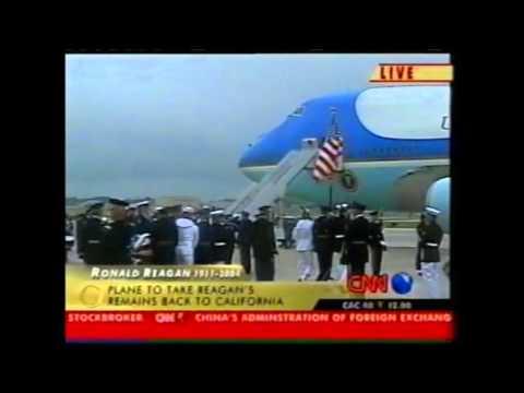 President Reagan casket - Departure Ceremonies in Washington, DC - June 11, 2004