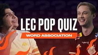 Word Association | LEC Pop Quiz | 2021 Spring