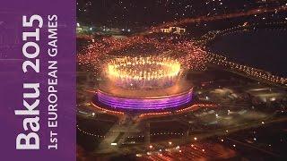 Closing Ceremony Fireworks   Baku 2015 European Games