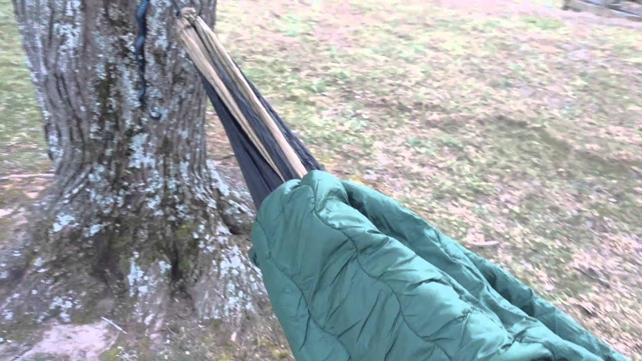 cheap cold weather hammock setup   youtube  rh   youtube