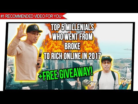 Top 5 List: People Who Who Went From Broke To Rich Online Making Money in 2017 (Success Stories)