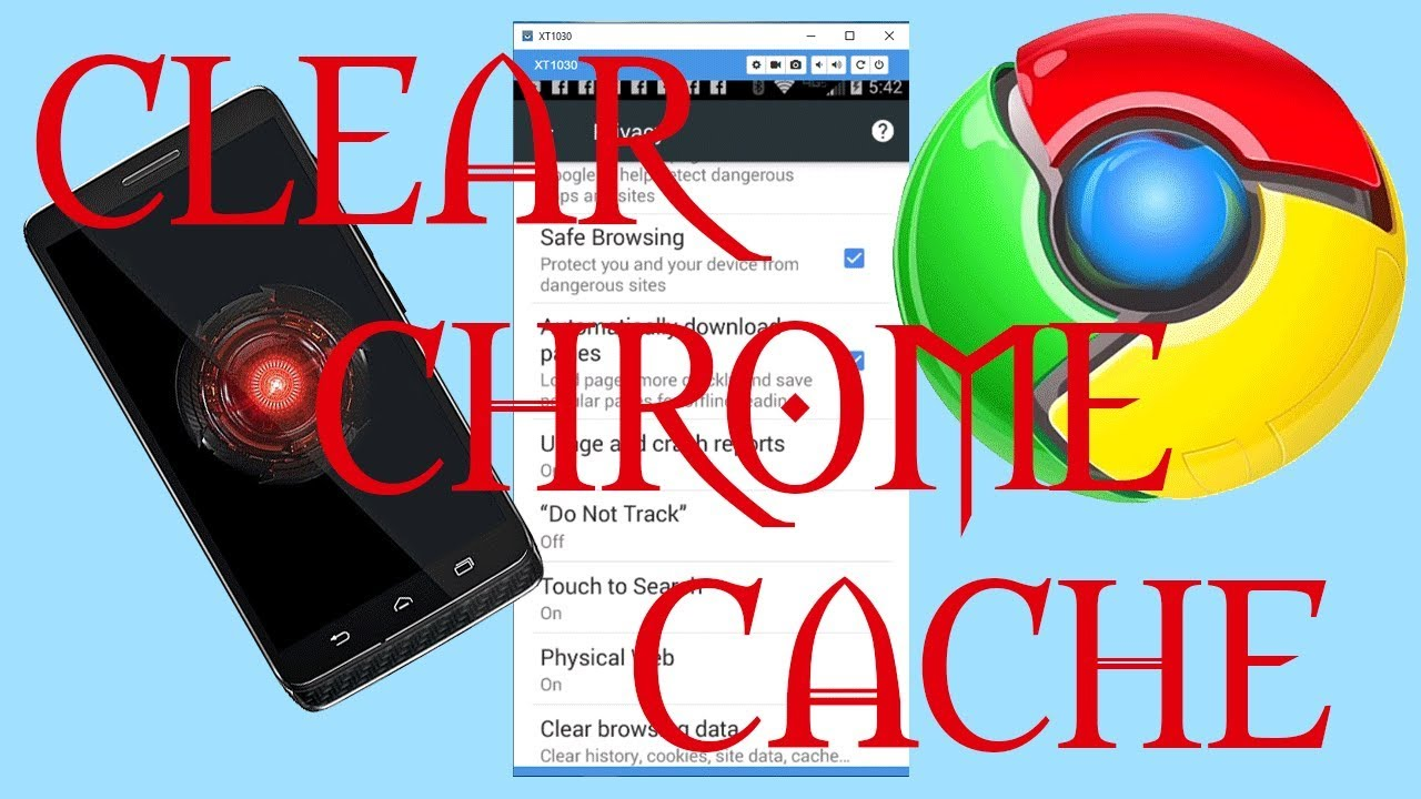 how to clear the google chrome cache