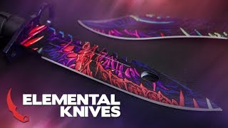 The Elemental Knives Hyper Beast Collection | Real CS:GO Knives Case Opening