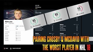 PAIRING CROSBY & MCDAVID WITH THE WORST PLAYER IN NHL 18 | NHL 18 Franchise Mode