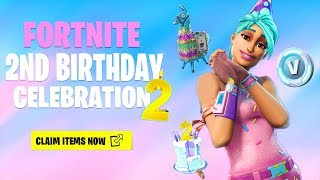 the New FREE BIRTHDAY ITEMS in Fortnite (Birthday Celebration Event)