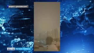 Над Нижневартовском пронеслась снежная гроза