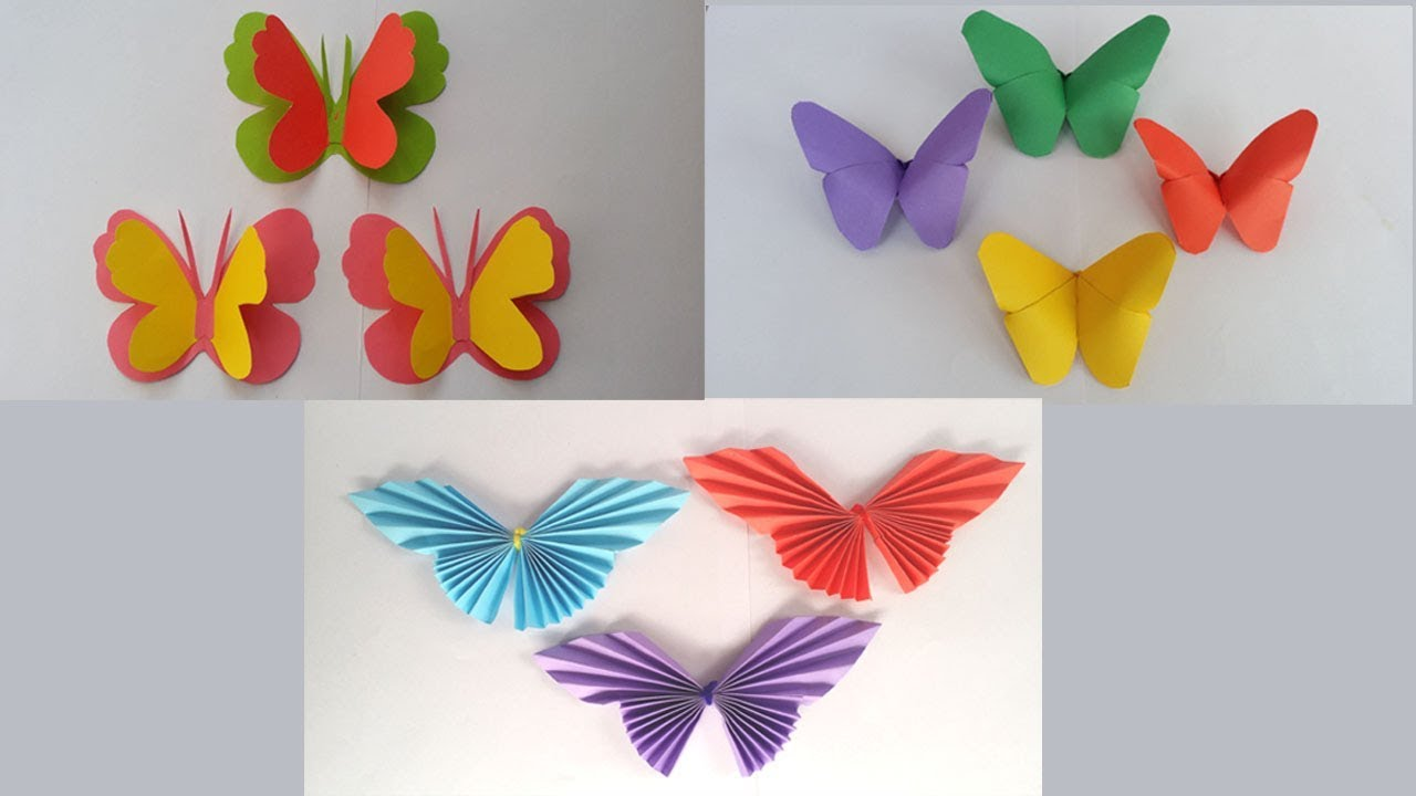 Diy 3amazing Paper Butterfly How To Make Beautiful Paper Butterfly For Home Room Wall Decoration Youtube