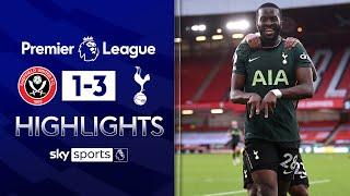 Ndombele scores STUNNING lob in Spurs win! 🤯 | Sheff Utd 1-3 Tottenham | Premier League Highlights
