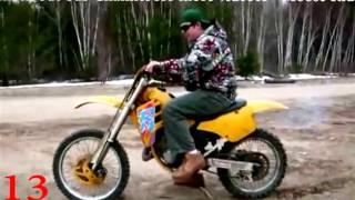 Лучшие приколы и неудачи на мотоциклах и кадроциклах!!!