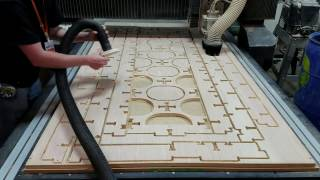 "CNC Router Timelapse - 3/4"" Oak Plywood - Bed Project Sheet 1"