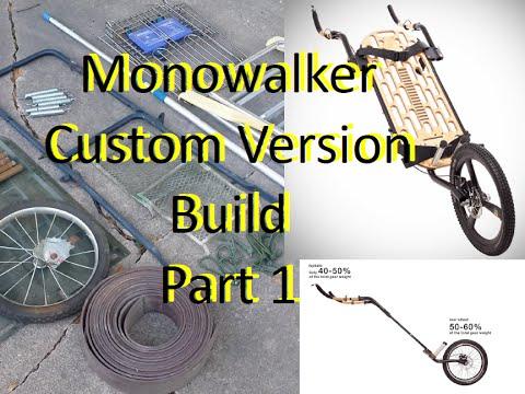 monowalker custom built version prepper cart hiking ...