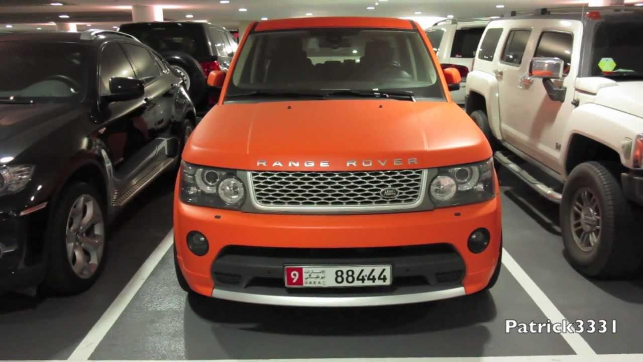 Matte orange range rover supercharged