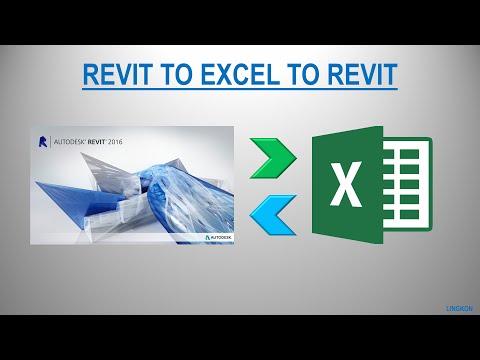 Revit to Excel to Revit