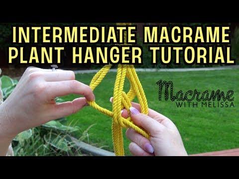 Intermediate Macrame Plant Hanger Tutorial Youtube