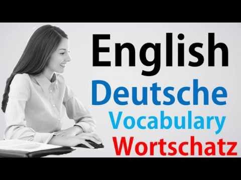 Video#4 Deutsch-Englisch Wortschatz Übersetzung German English Dictionary Gratis Kostenlos Lernen