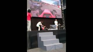 F1 2014 日本GP イベントにて佐藤琢磨プレイ.