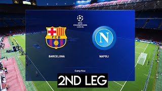This video is the gameplay of barcelona vs napoli (2nd leg) champions league 2020 if you want to support on patreon https://www.patreon.com/pesme su...