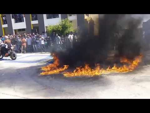RCET MECHANICAL ENGINEERING SYMPOSIUM BIKE STUNT IN FIRE