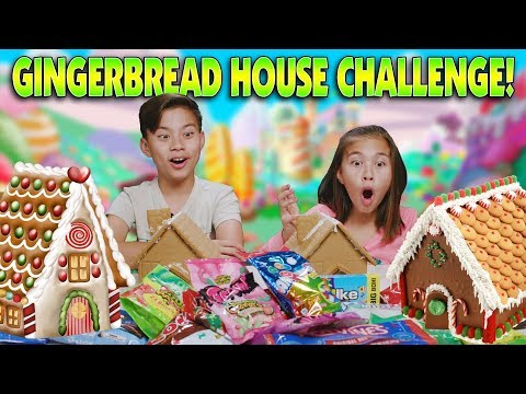 GINGERBREAD HOUSE CHALLENGE!!! Making DIY Extreme Candy Houses!