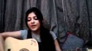 Pakistani Girl singing a song