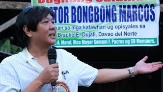 Sen  Bongbong Marcos -- Concrete drainage canal project in Davao Del Norte 24 October 2013