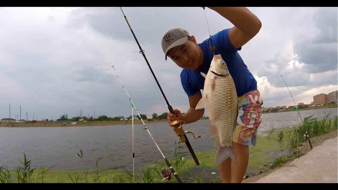 Рыбалка в Астане газовая аппаратура (ловля на перловку донная снасть убица карася)