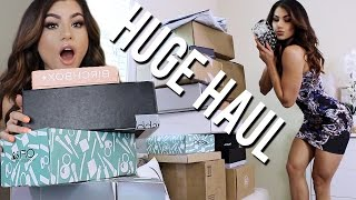 PR UNBOXING HAUL! NEW FREE MAKEUP PACKAGES + SWATCHES!
