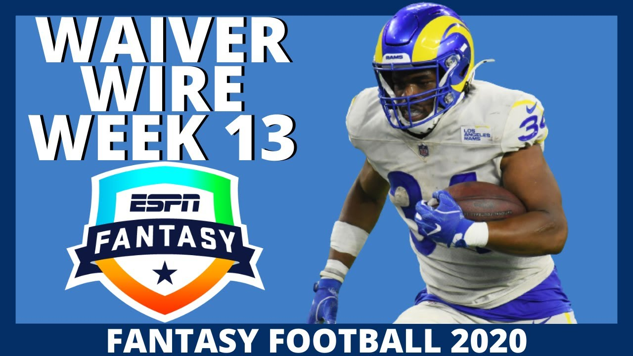 2020 Fantasy Football - Week 13 Waiver Wire Adds - Fantasy Football Advice