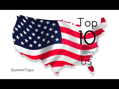 Top 10 Largest States in the US