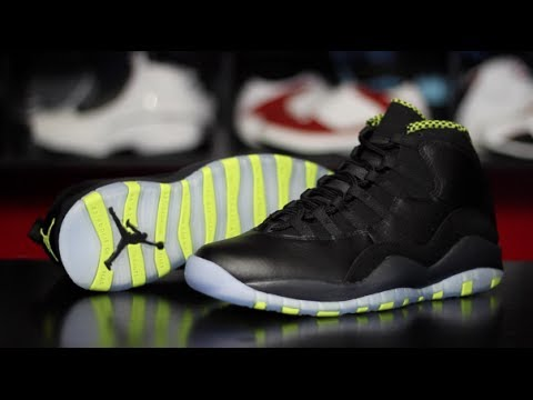 074828fe4f23 Air Jordan 10 Retro  Venom Green  - YouTube