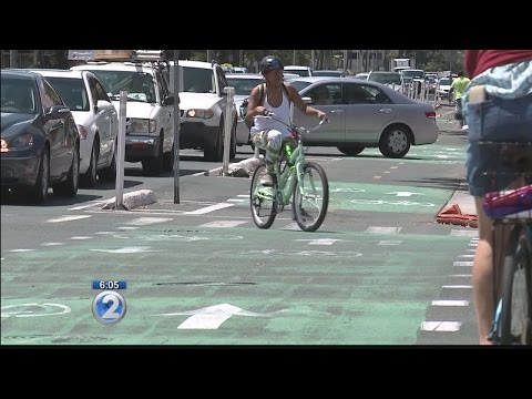 Added bike lanes increase bicyclists and business in Honolulu