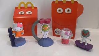 Обзор игрушек Хэппи Мил Хеллоу Китти и Черепашки Ниндзя в космосе