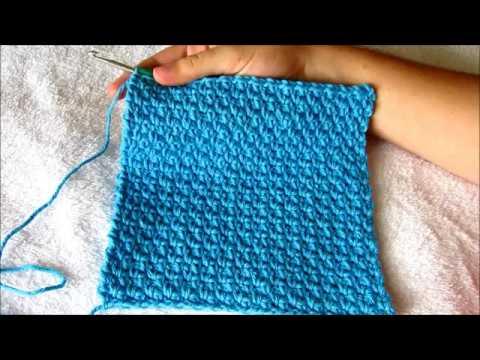 Beginner Crochet Tutorial: Moss Stitch Washcloth