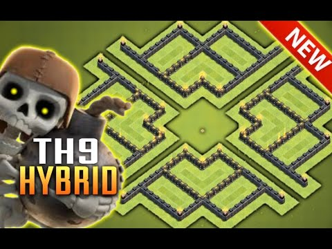 New CoC Best Th9 Defense | Town Hall 9 Base Layout CoC | Clash of Clans (CoC Defense) 2017