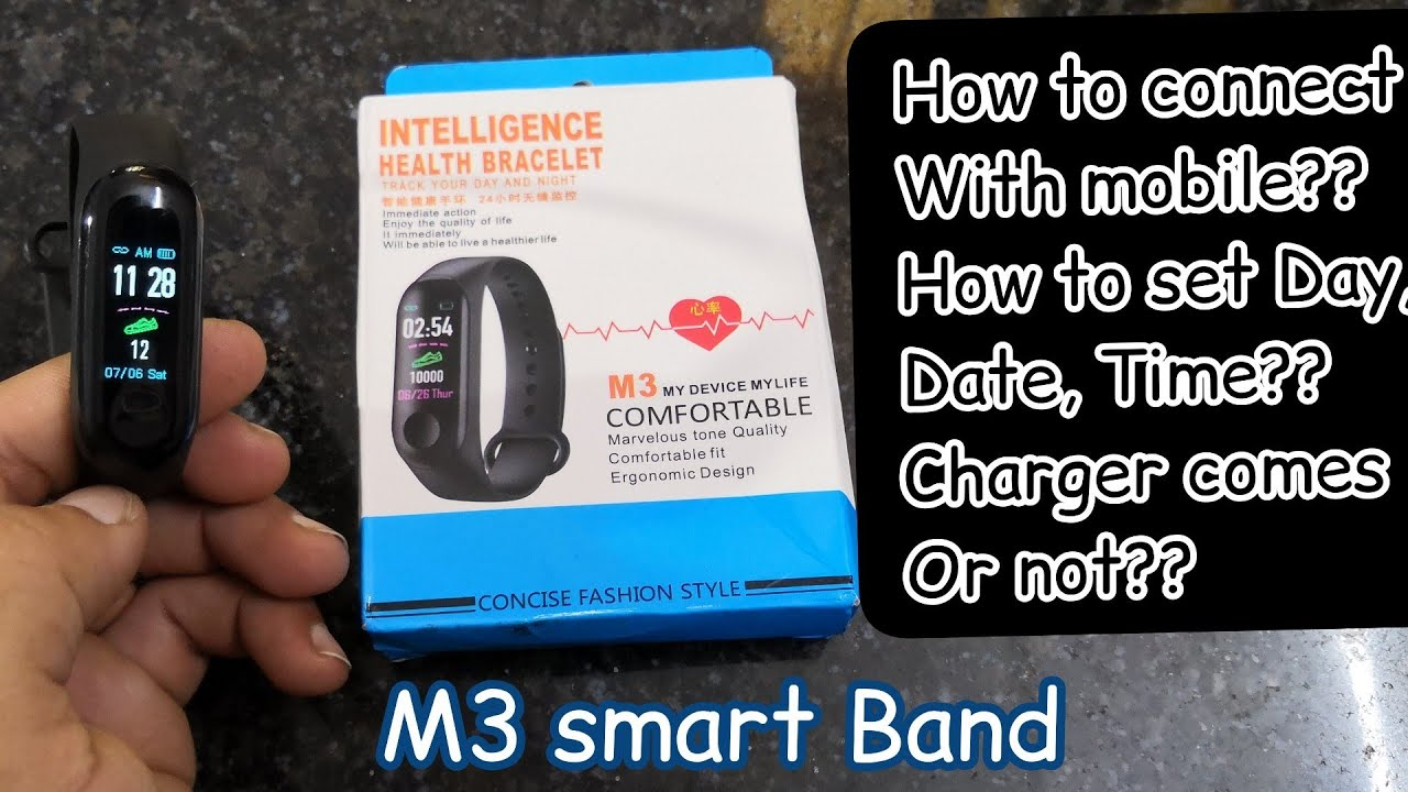 M3 Band //how to connect //how to change date & time