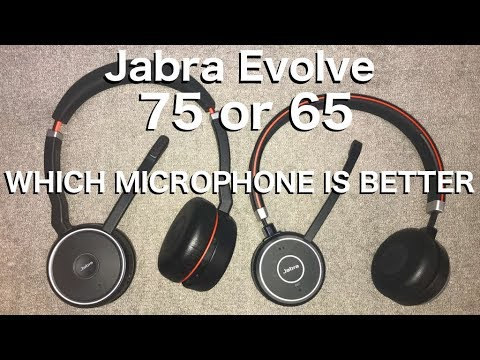 Jabra Evolve 65 Vs 75 Which Microphone Sounds Better Youtube