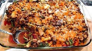 Spicy TEX MEX BEAN CASSEROLE, main dish recipe, vegan or not