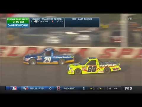 NASCAR Camping World Truck Series 2017  Eldora Speedway  Second Qualifying Race