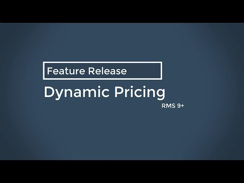 RMS Dynamic Pricing - Feature Release