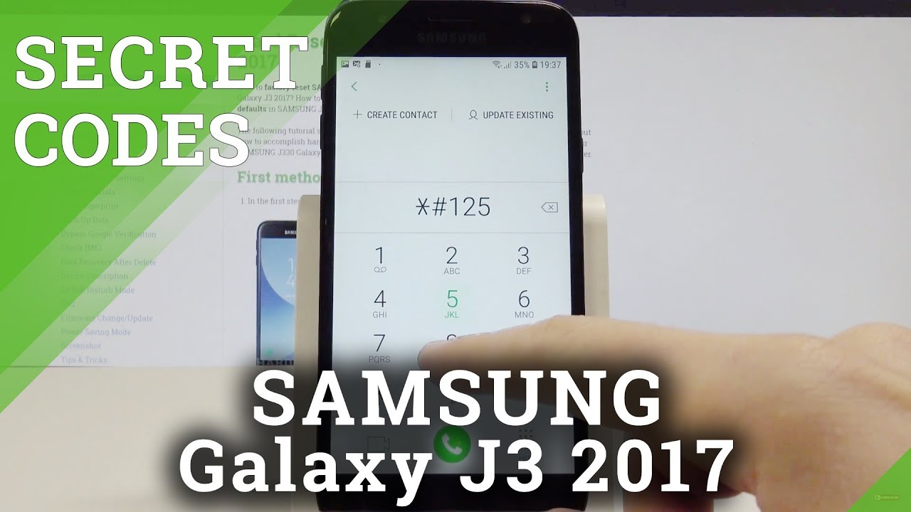 Secret Codes SAMSUNG Galaxy J3 2017 - Hidden Mode / Test Menu / Advanced  Options