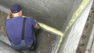видео Гидроизоляция (двойной слой руберойда)