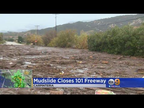 Mudflows Shutdown 101 Freeway In Carpinteria