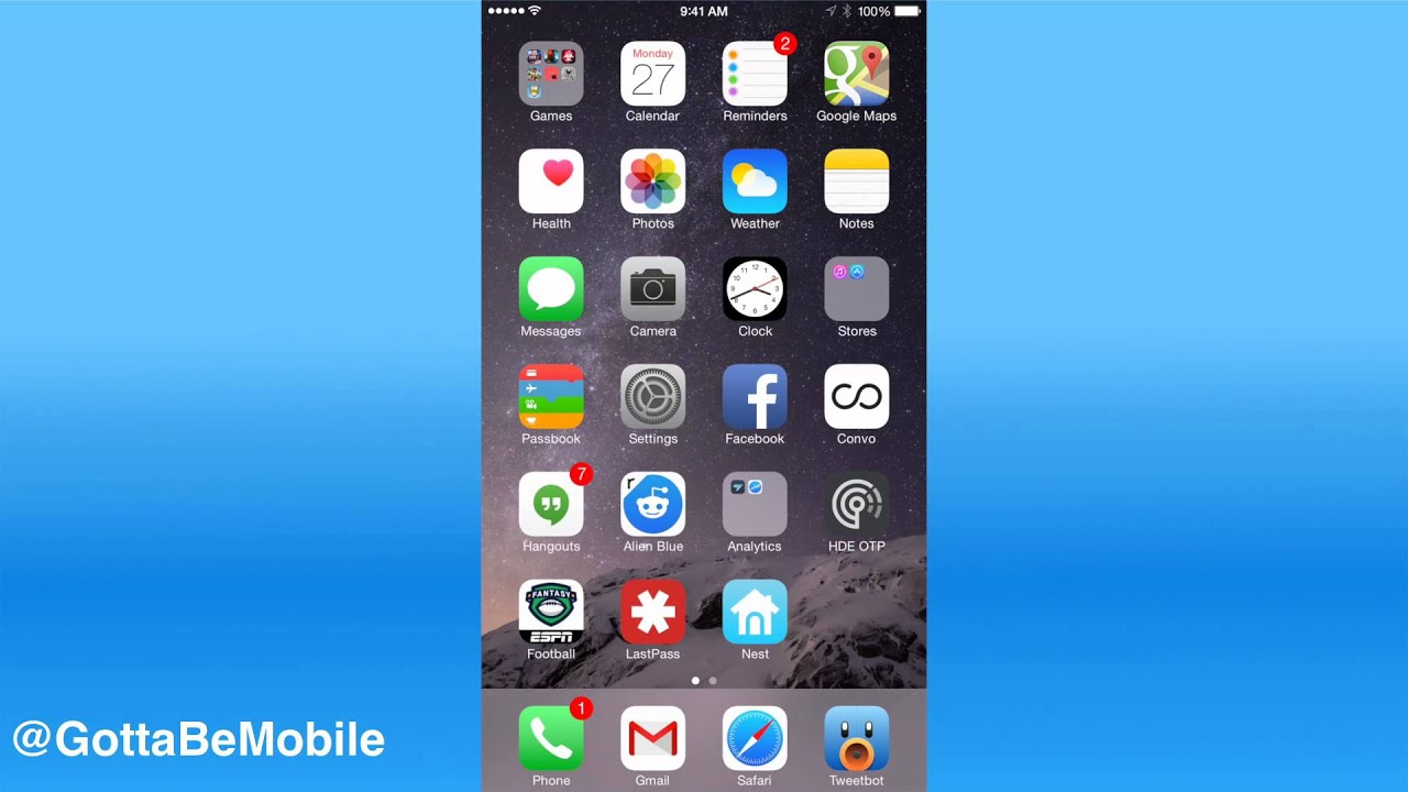 iphone 6 plus app organization tips youtube. Black Bedroom Furniture Sets. Home Design Ideas