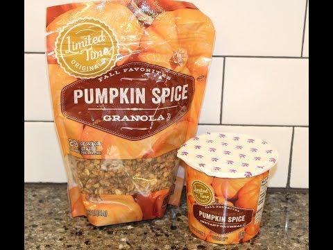 Giant Brand Pumpkin Spice Granola & Pumpkin Spice Instant Oatmeal Review