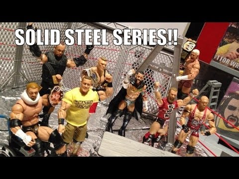 GTS WRESTLING: Solid Steel SERIES!! WWE Mattel Elite action figure matches animation