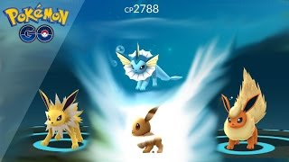 Evolving 10 EEVEES | 1000 GOLD with gyms (Pokemon GO)