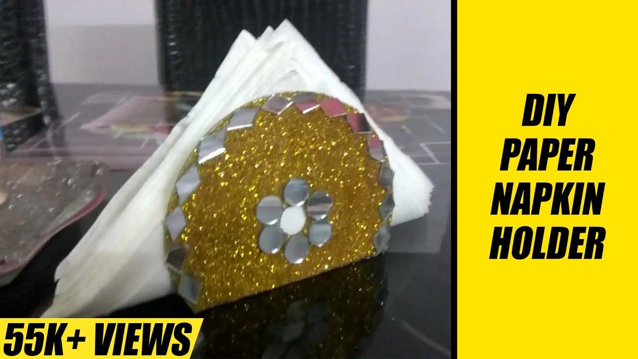 HOW TO MAKE A PAPER NAPKIN HOLDER | TISSUE PAPER HOLDER | HOME DECOR    YouTube