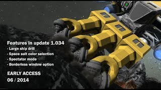 Space Engineers - Space suit color selection, large ship drills, spectator mode