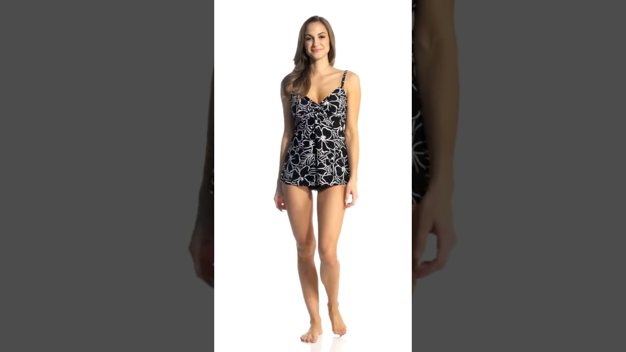 d349d476ce3 Miraclesuit Savannah Roswell Tankini Top (DD Cup) | SwimOutlet.com ...