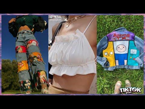 thrift flip tik tok compilation|DIY clothes|crafts